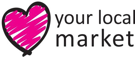 Love your local market love heart logo