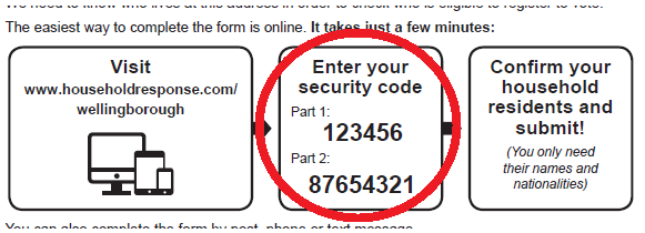 Annual Canvass HEF Security Code